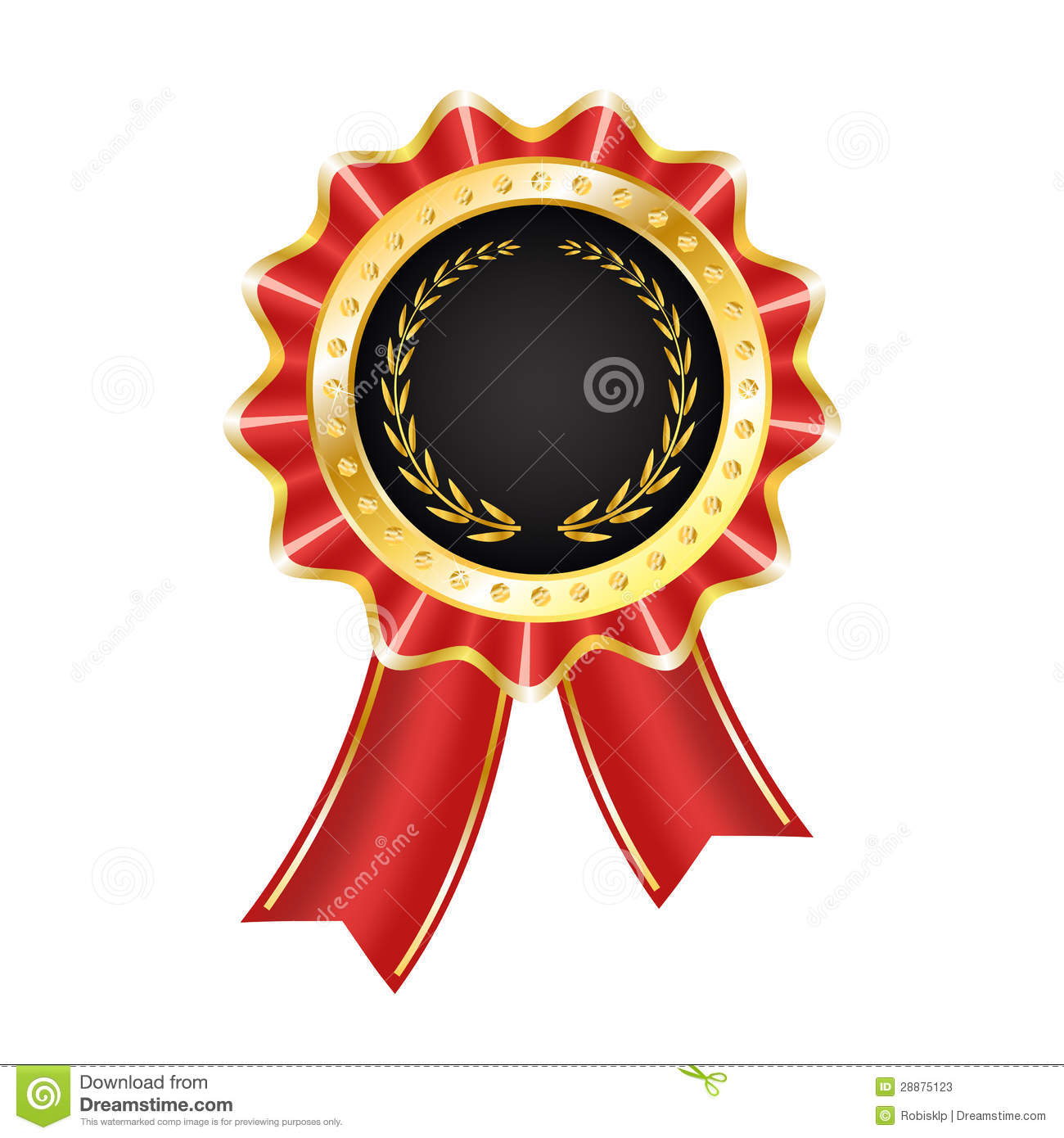 Award Label With Ribbon Stock Photos - Image: 28875123