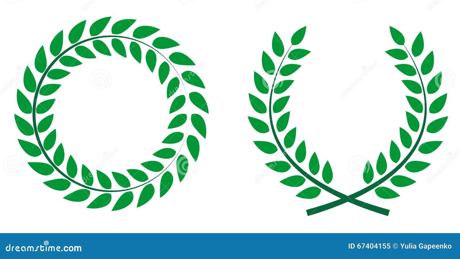 Laurel Branch Symbol Of Victory Stock Vector Illustration Of