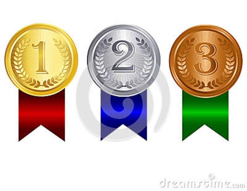 Silver Medal Clipart Award Medal With Ribbon Gold