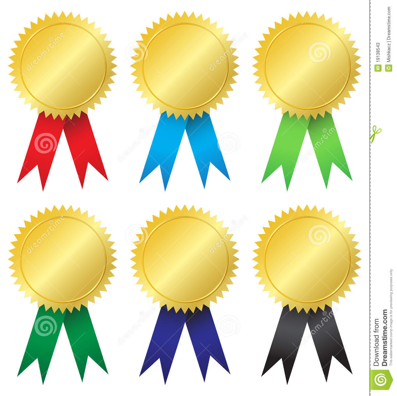 Award medals stock vector. Image of championship, first ...