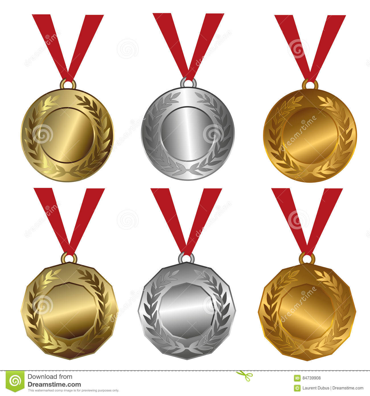 Gold, Silver And Bronze Seals Or Medals Vector ...