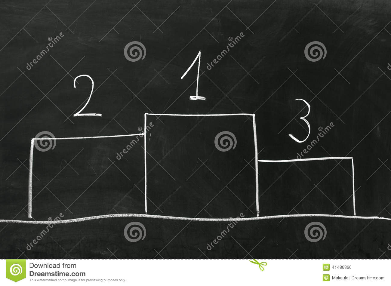 Award Platform With Numbers And Flags. Stock Photo ...