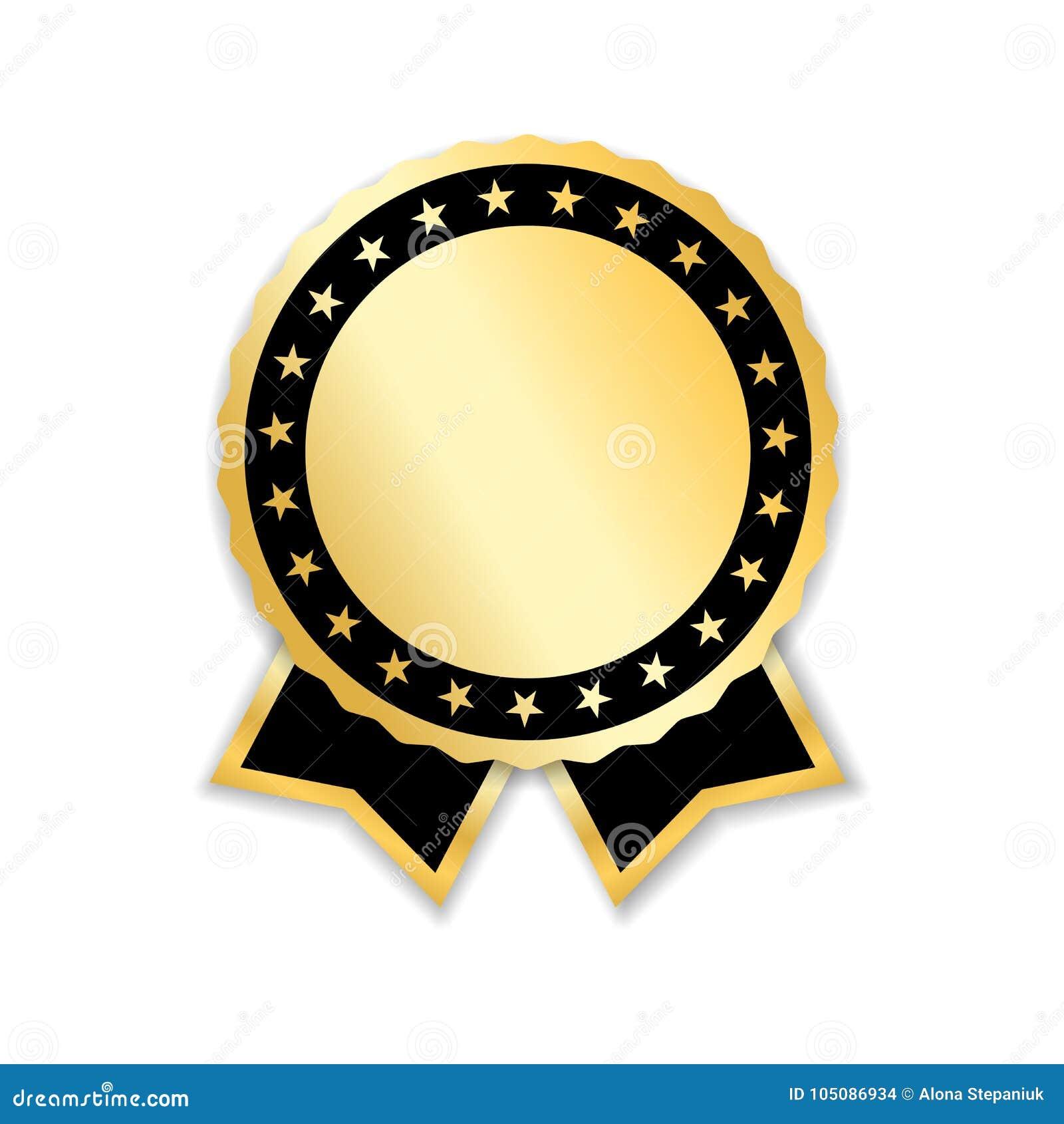 Award Ribbon Gold Stock Vector Illustration Of Ribbon 105086934