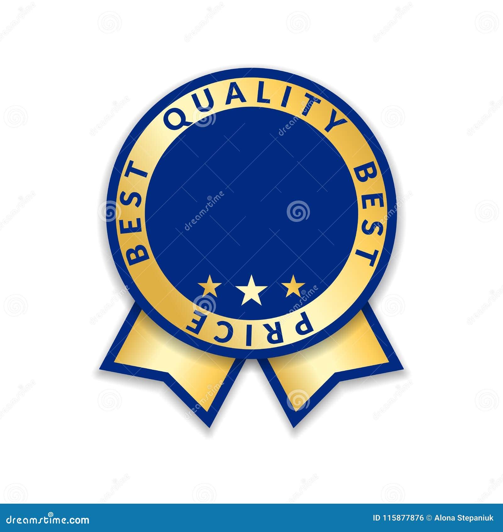 Award Ribbon Isolated Gold Design Medal Label Badge Certificate