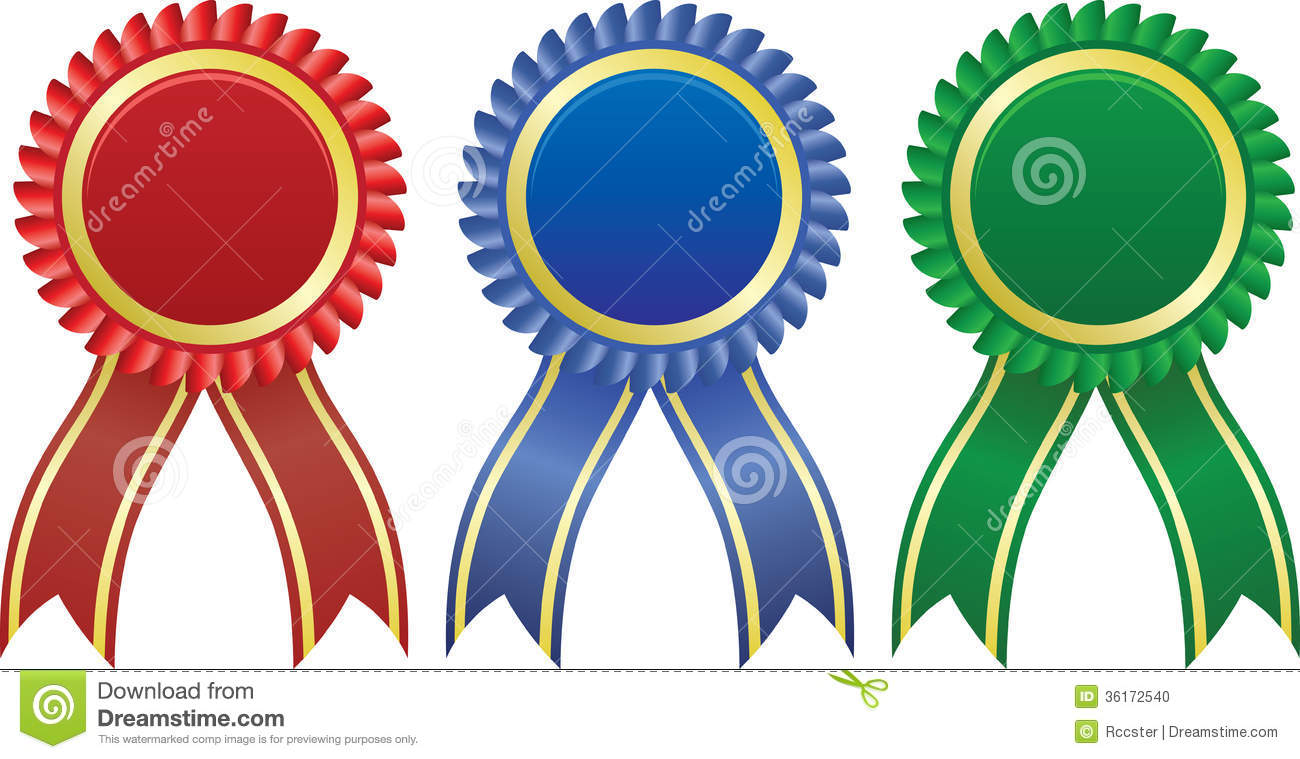 award ribbons stock vector illustration of price achievement