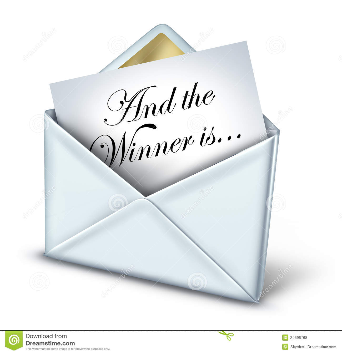 Award winner envelope with a white letter and gold trim unveiling the ...