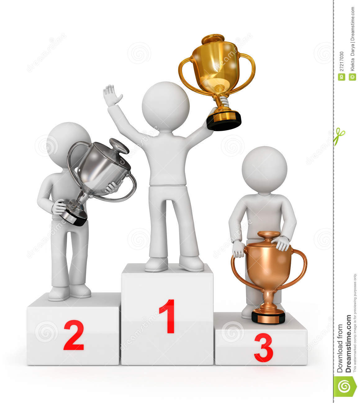 More similar stock images of ` Awarded with cups winning trio on the ...