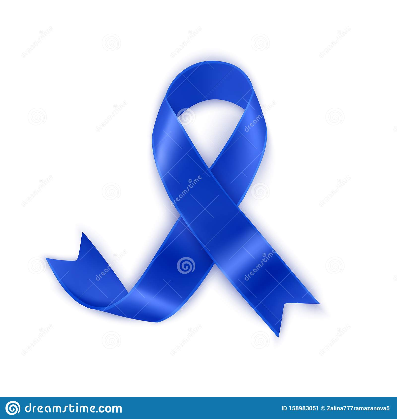 Awareness Dark Blue Ribbon Isolated On White Background Navy Blue Awareness Ribbon For Colon Cancer And Colorectal Cancer Symbol Stock Vector Illustration Of Awareness Dark 158983051