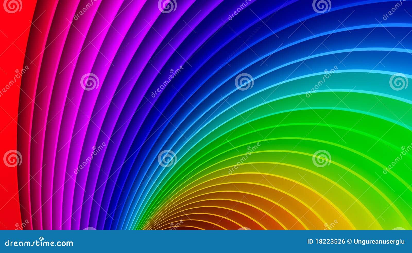 Awesome 3d Rainbow Background Stock Illustration