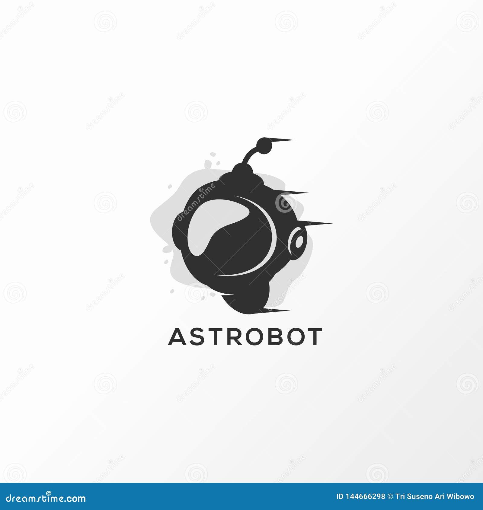 Astrobot logo design vector illustration ready to use