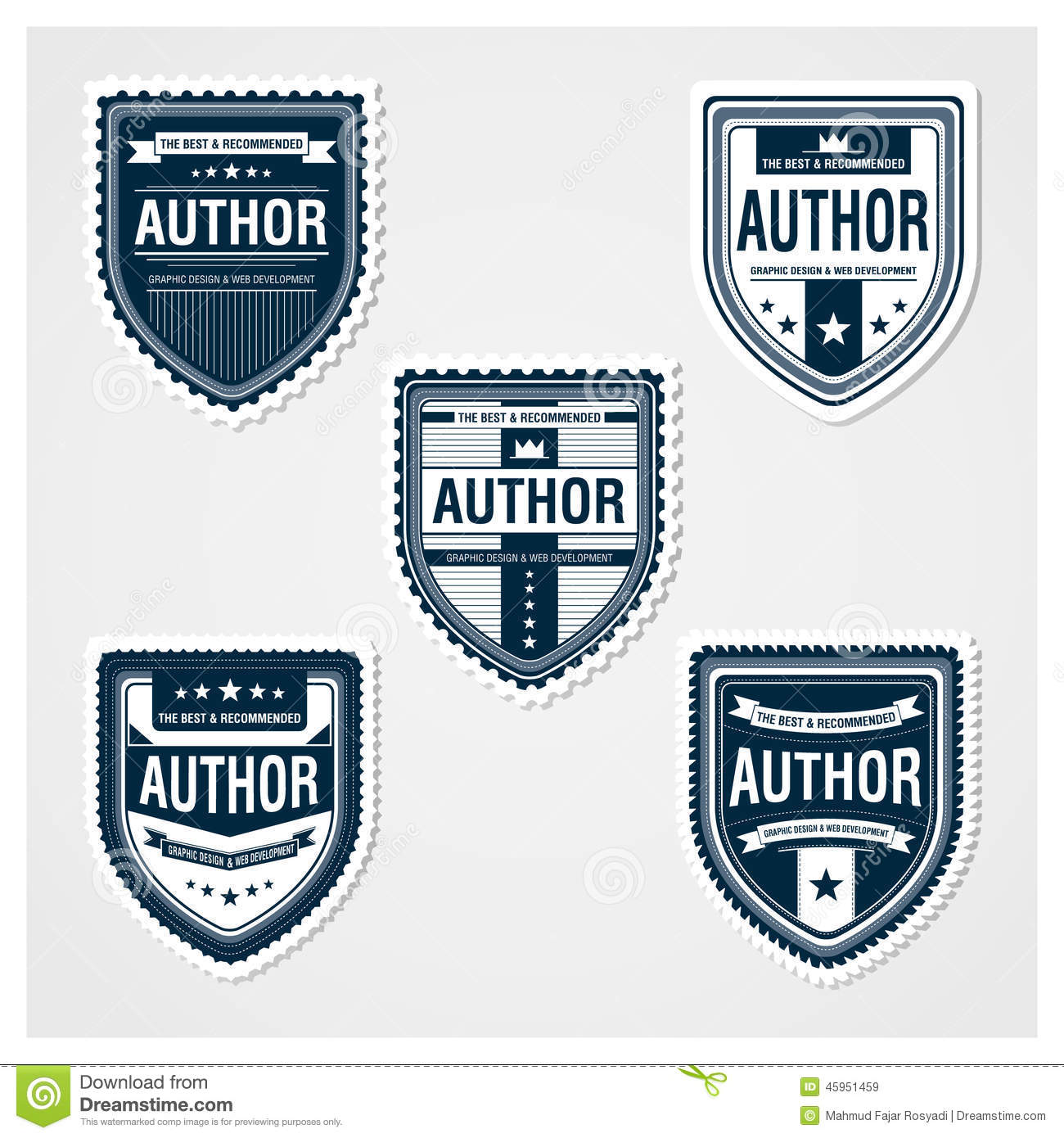awesome badges template stock vector illustration of badges 45951459