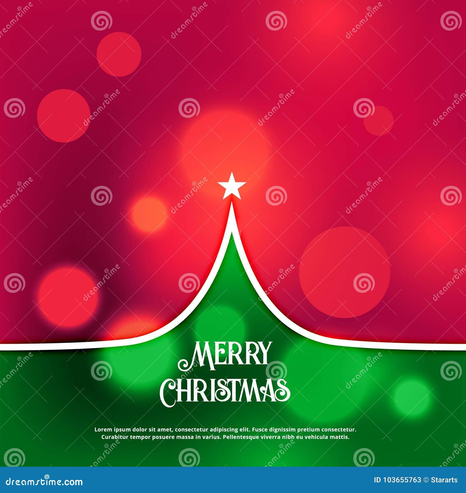 Awesome Creative Christmas Tree Design Greeting Stock