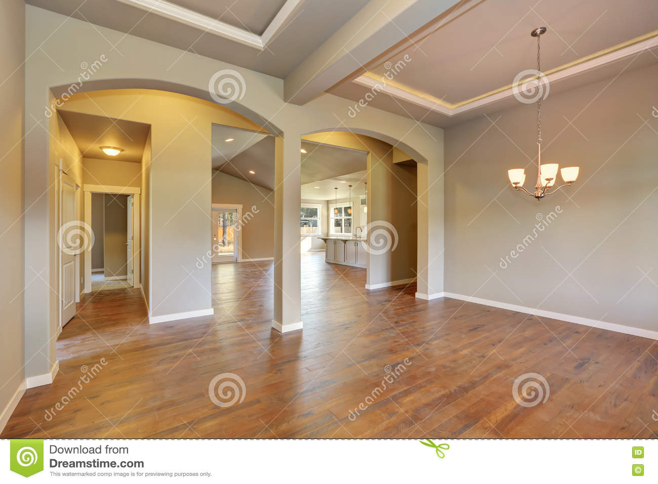 Entrance Foyer And Circulation In House : Awesome entrance hall of brand new house stock photo