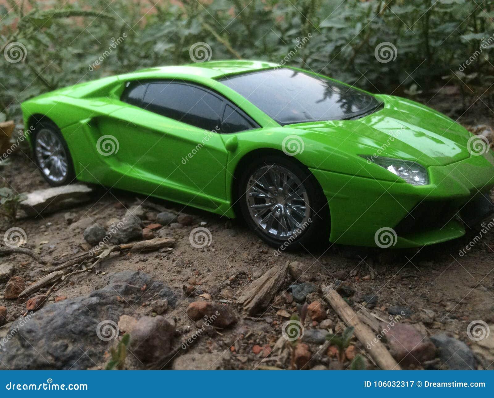 Awesome Lamborghini Toy Car Camera Shot Stock Image Image Of White
