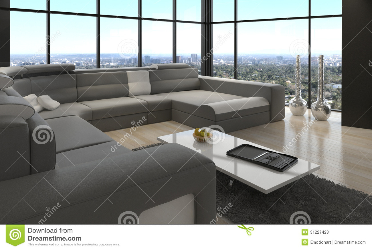 Awesome modern loft living room architecture interior - Living room definition architecture ...