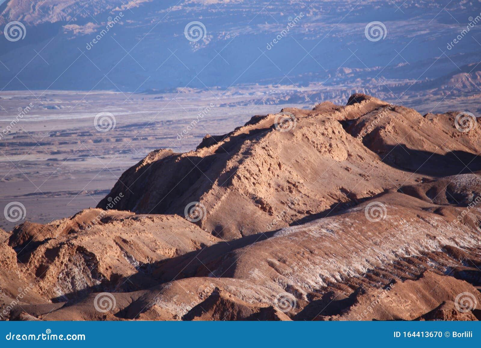 Moon Valley Or El Valle De La Luna Atacama Desert San Pedro Atacama Northern Chile Stock Photo Image Of Rock Attraction 164413670