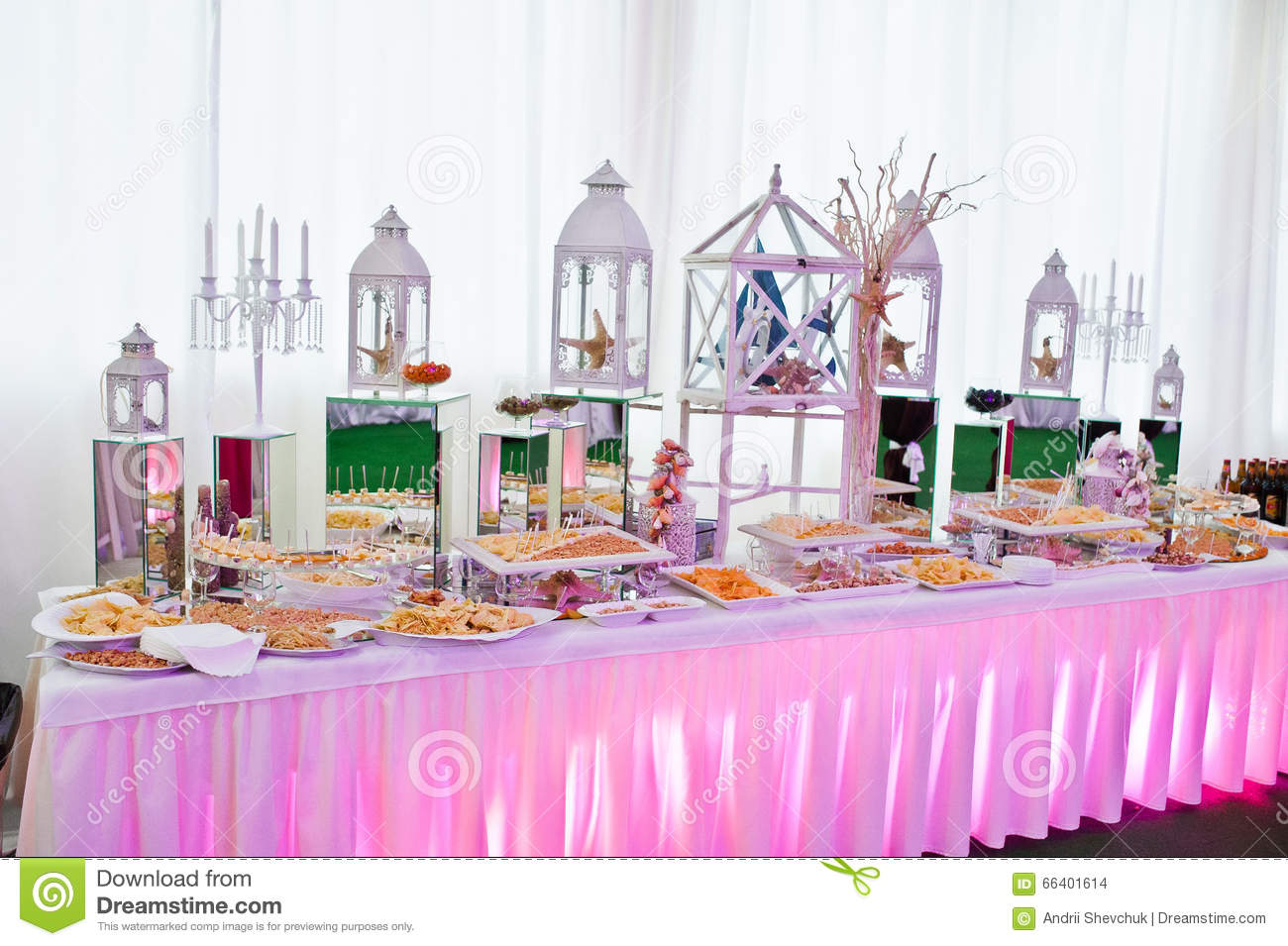 Awesome Wedding Reception Of Food And Drink Stock Photo - Image of ...