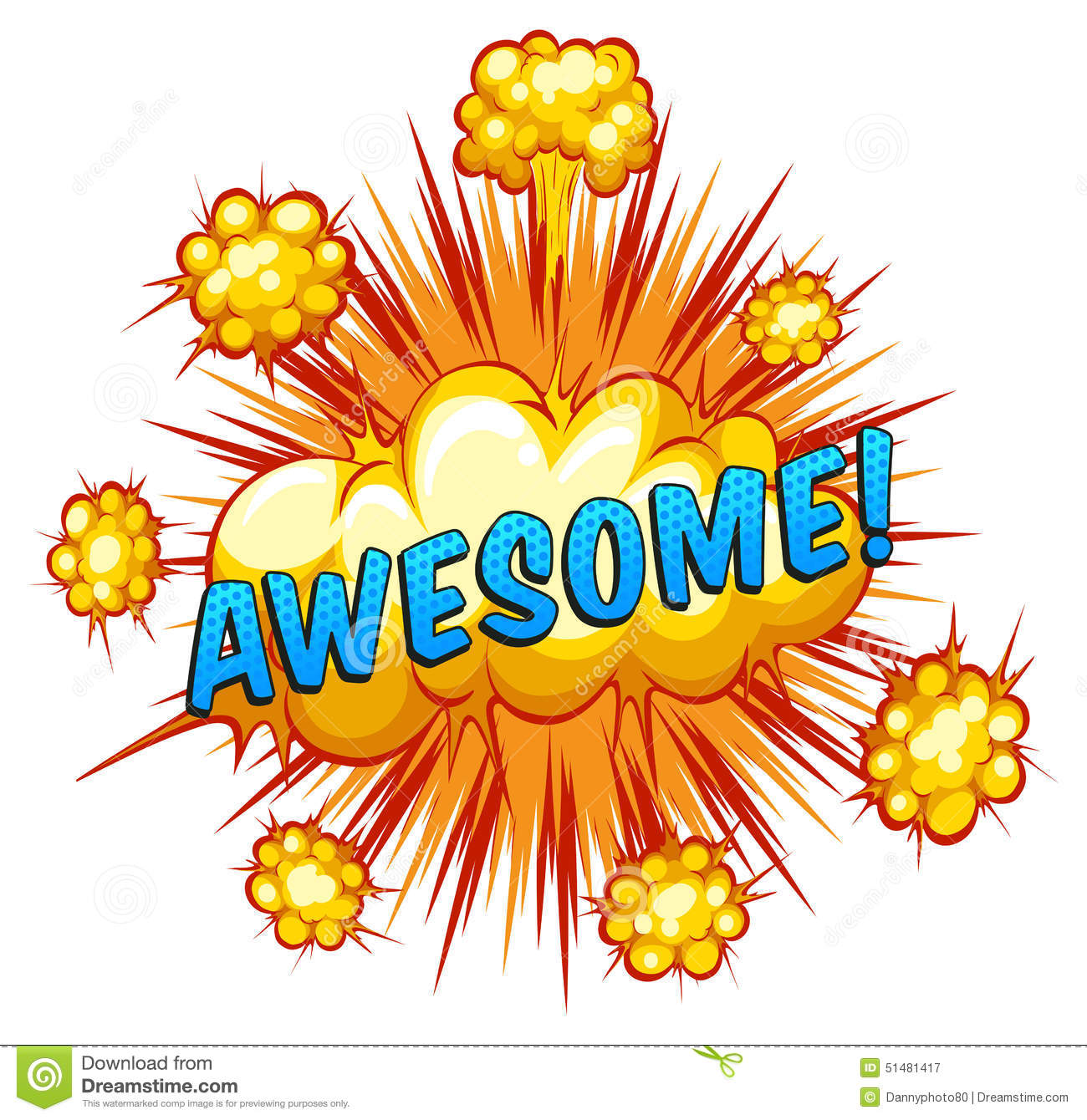 Awesome Stock Vector