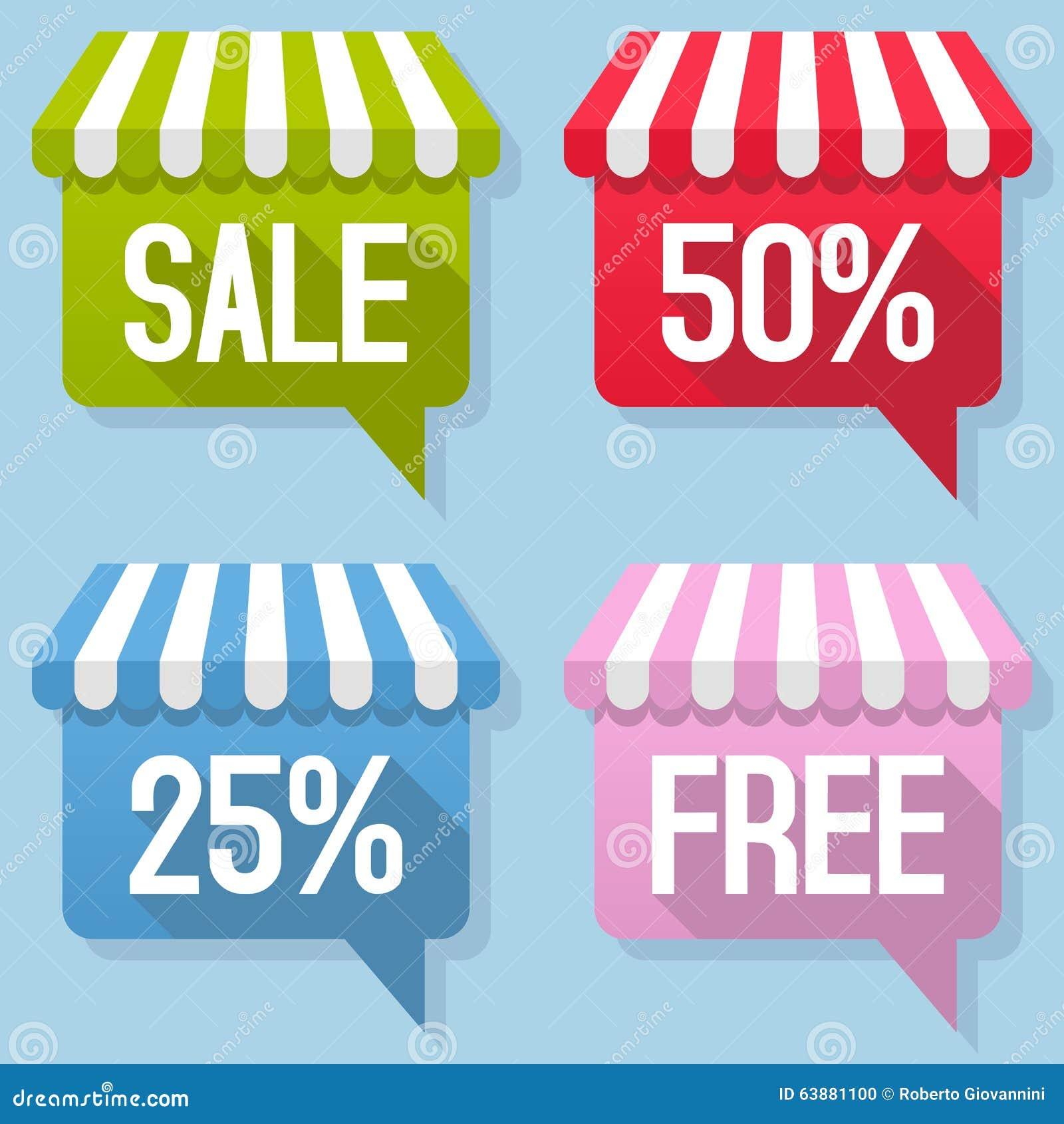 Awning ελεύθερο σύνολο πώλησης λεκτικών φυσαλίδων