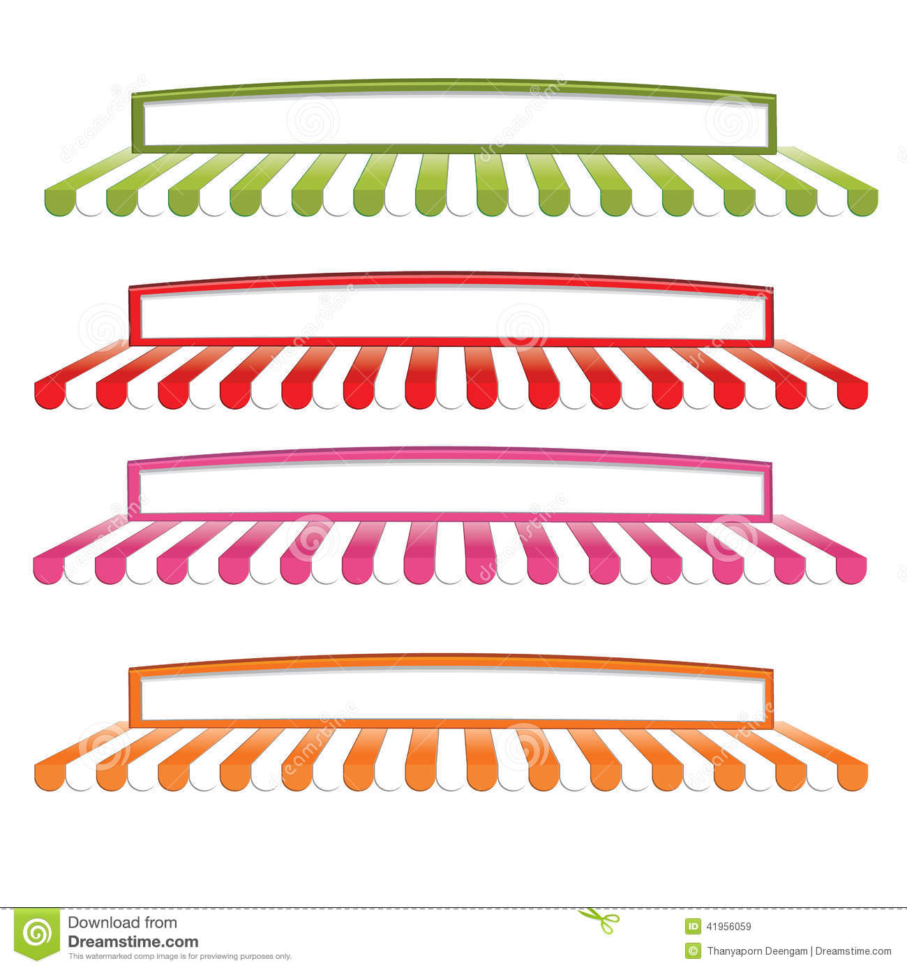 Awning 1 Stock Vector Illustration Of Green Grocery