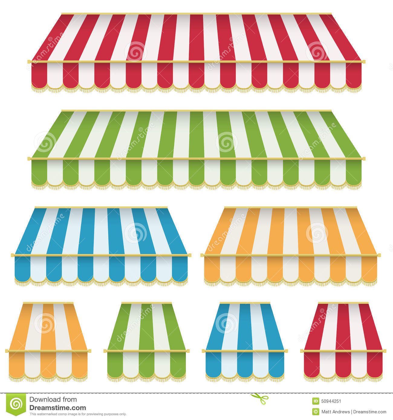 Awning Decorations Stock Vector Image 50944251