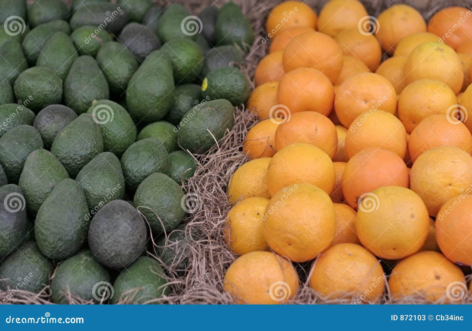 Awokado pomarańcze