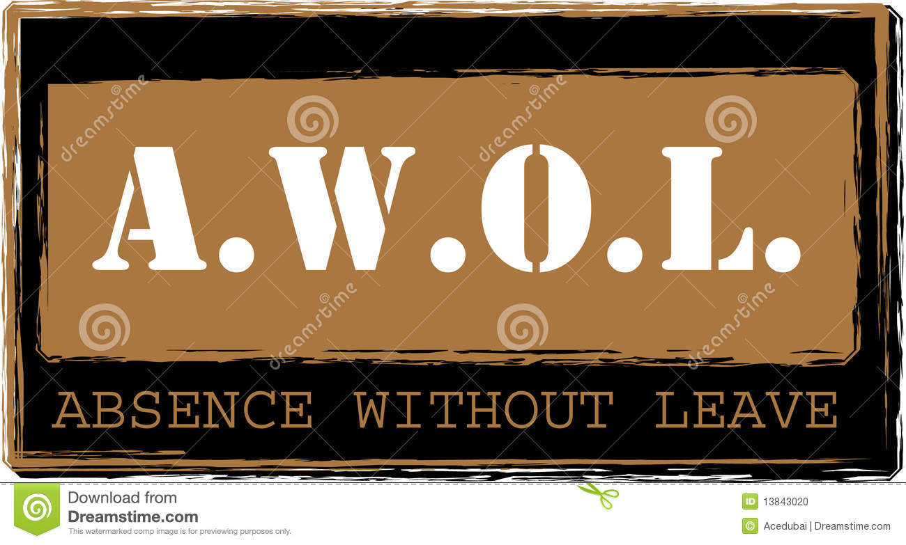 AWOL - Absence Without Leave Stamp Vector Stock Photo - Image ...