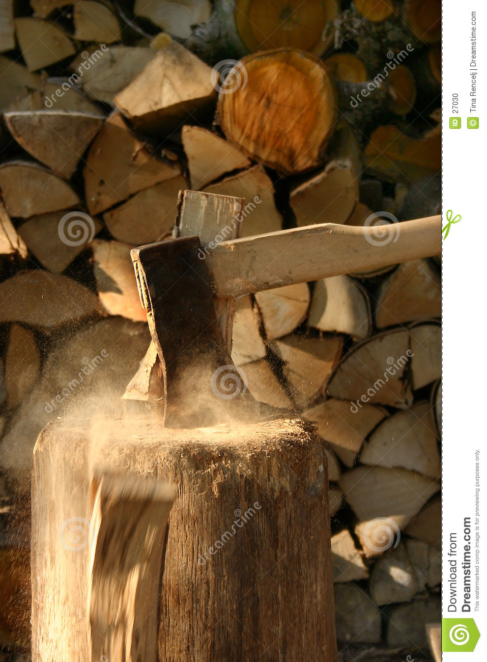 Axe in action