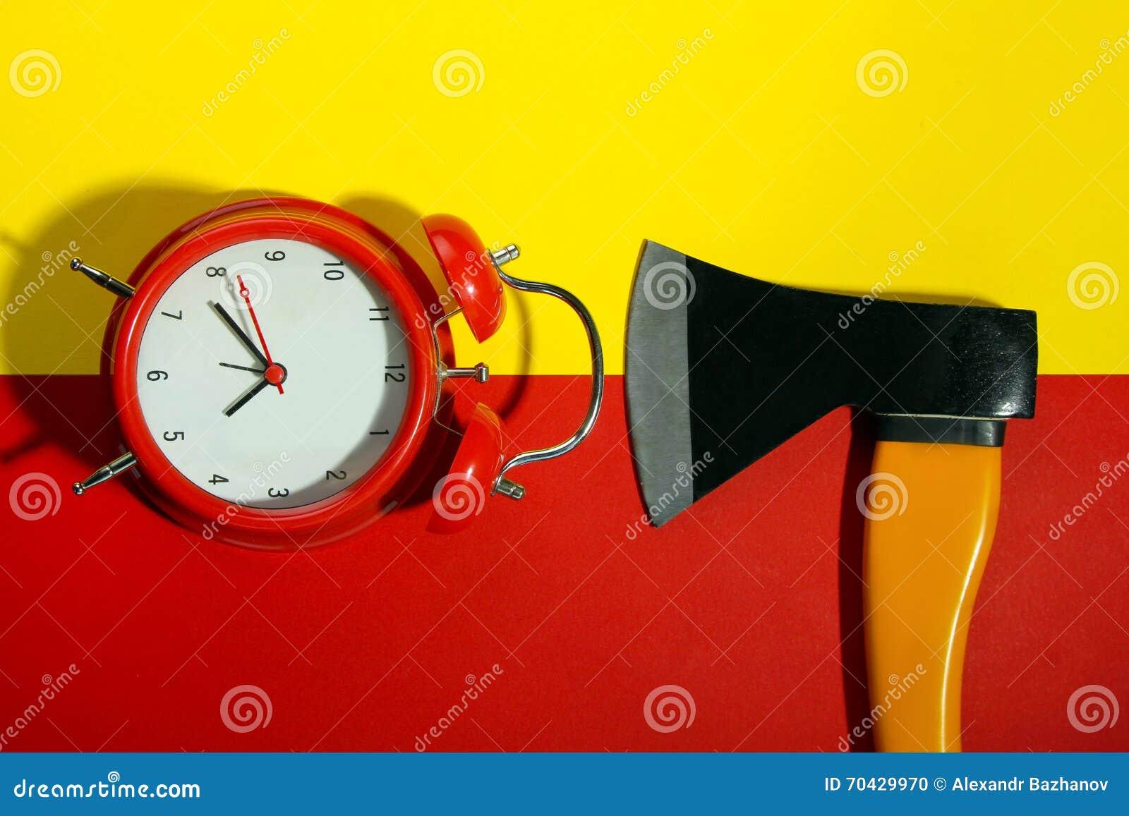 Axe with alarm clock