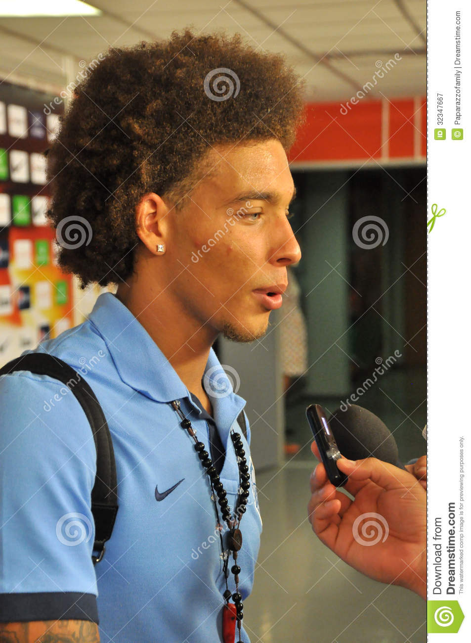 Axel Witsel Giving An Interview Editorial graphy Image