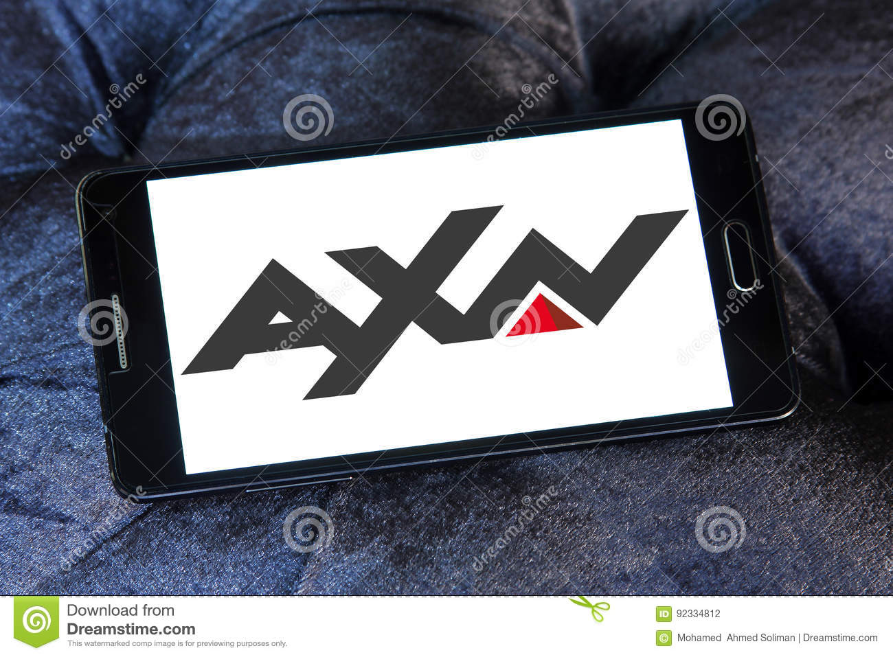 AXN tv networks logo editorial photography  Image of broadcasting