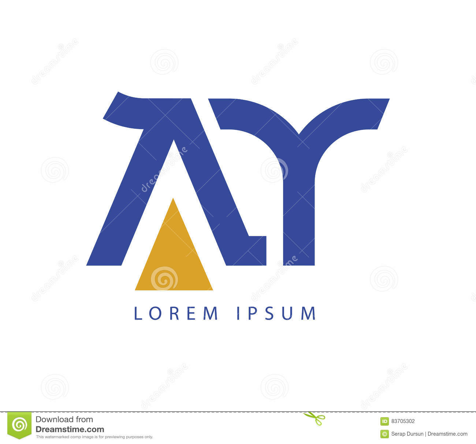 AY Logo Design Stock Illustration