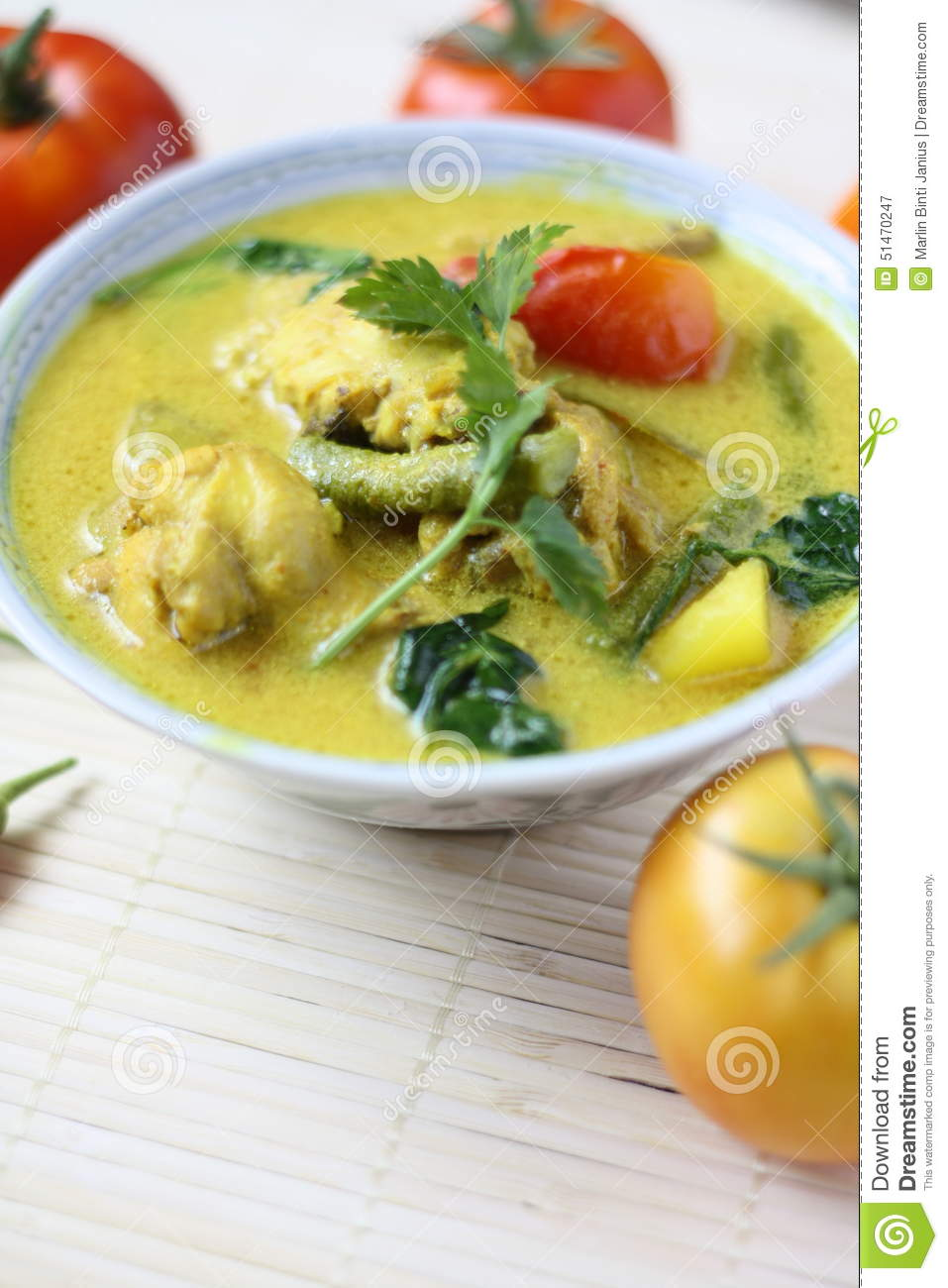Malay cuisine masak lemak cili api ikan tenggiri stock for Authentic malaysian cuisine