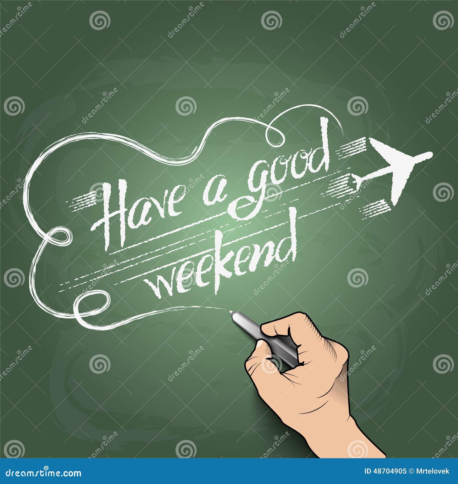 Ayez un bon week end illustration stock illustration du vendredi 48704905 - Week end a nice ...