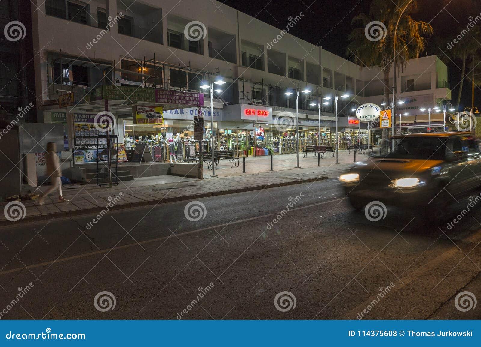 Ayia Napa街道,塞浦路斯