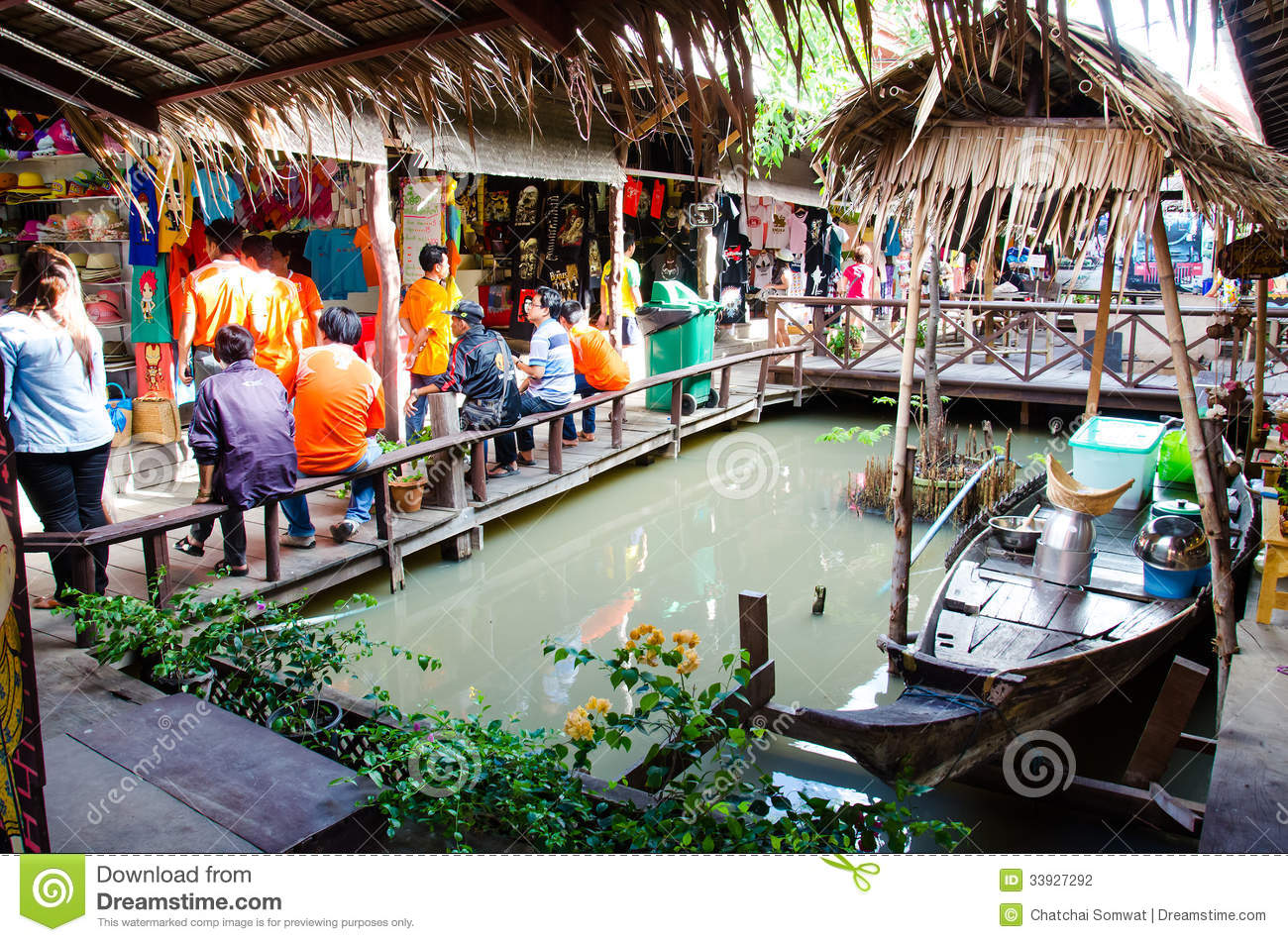 Ayothaya floating market editorial photography image for Ayutthaya thai cuisine bar