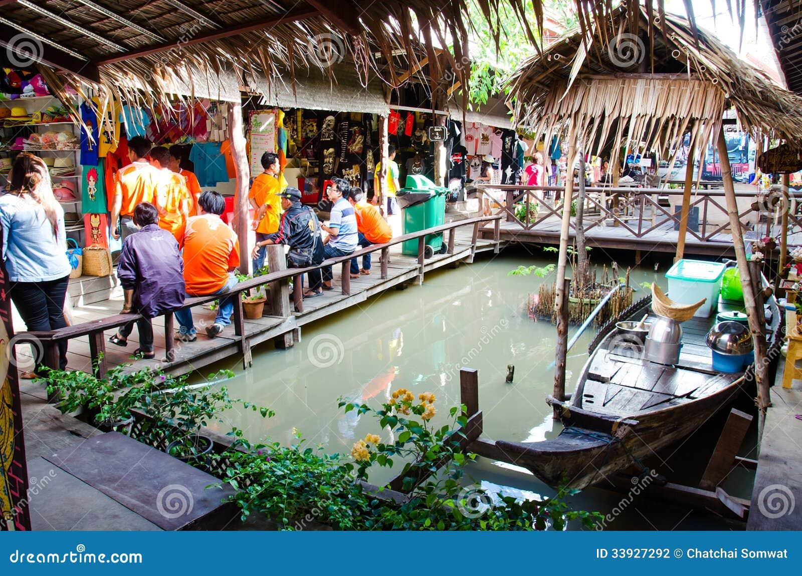 Ayothaya floating market editorial photography image for Ayutthaya thai cuisine