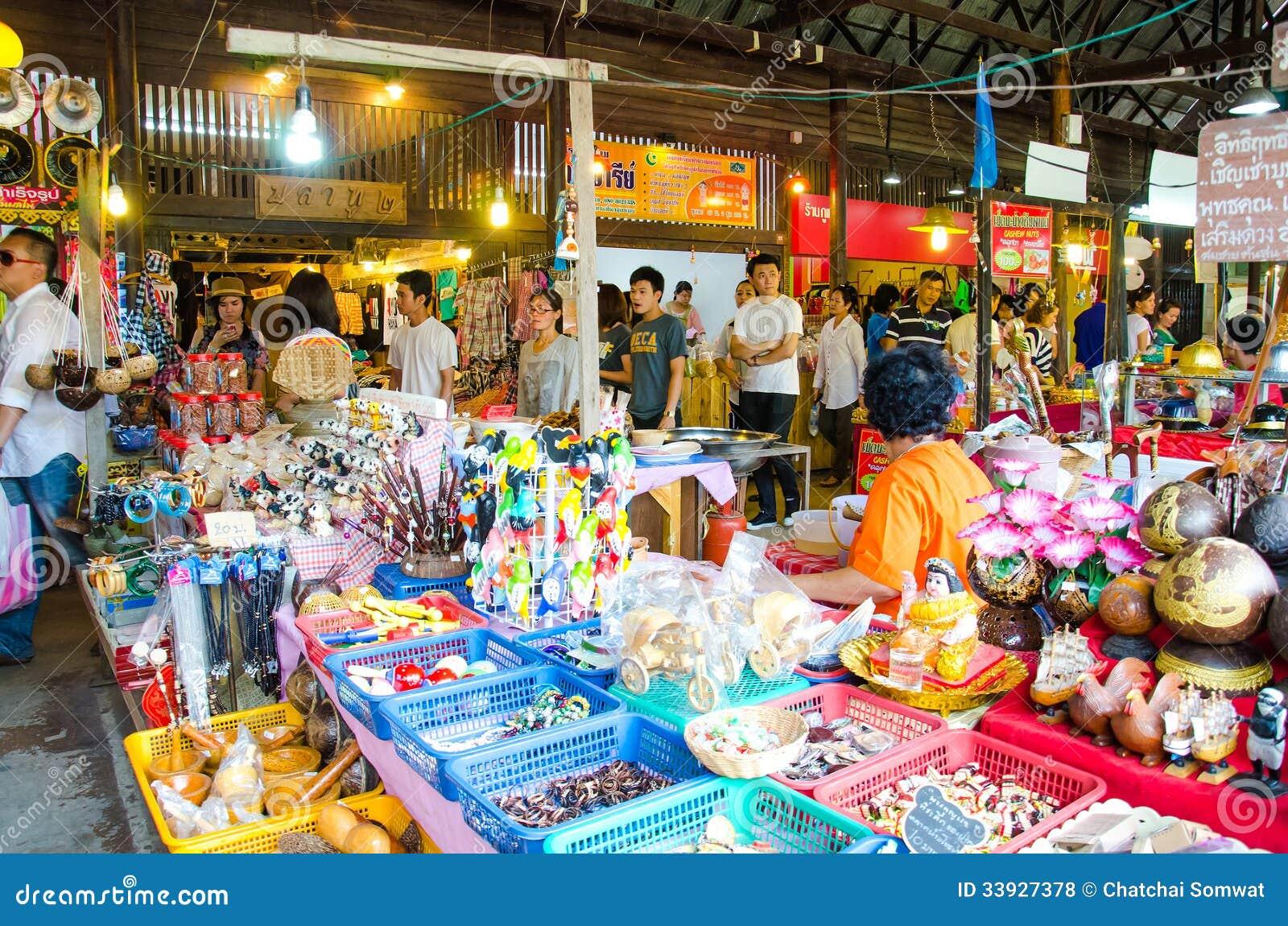Ayothaya floating market editorial stock photo image of for Ayutthaya thai cuisine bar