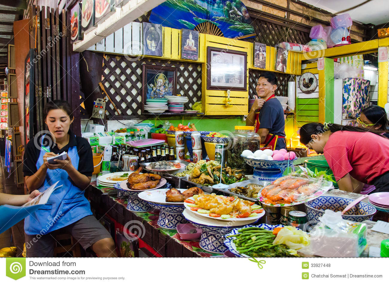 Ayothaya floating market editorial stock photo image of for Ayutthaya thai cuisine bar