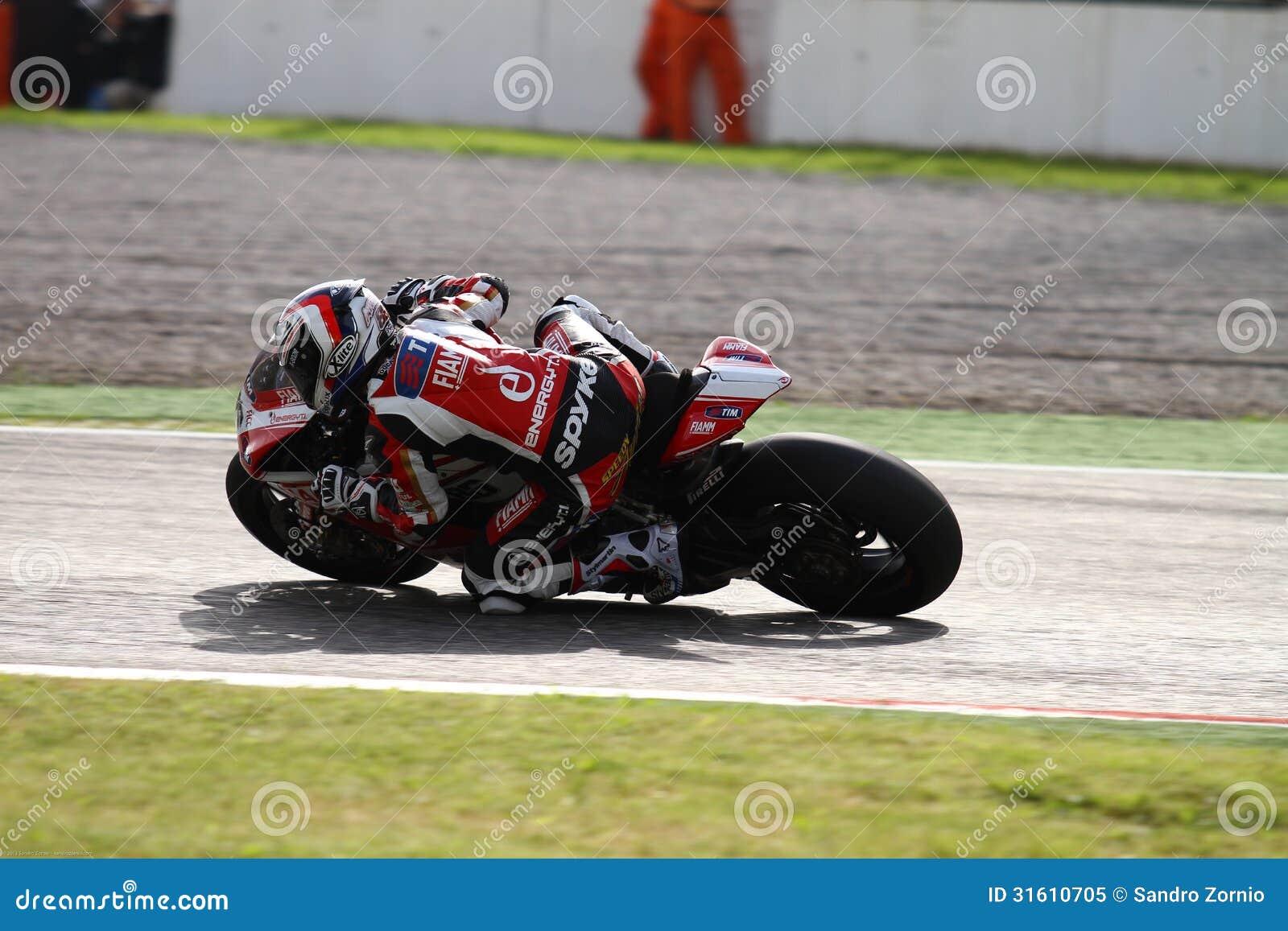 Ayrton Badovini #86 on Ducati 1199 Panigale R Team Ducati Alstare Superbike WSBK