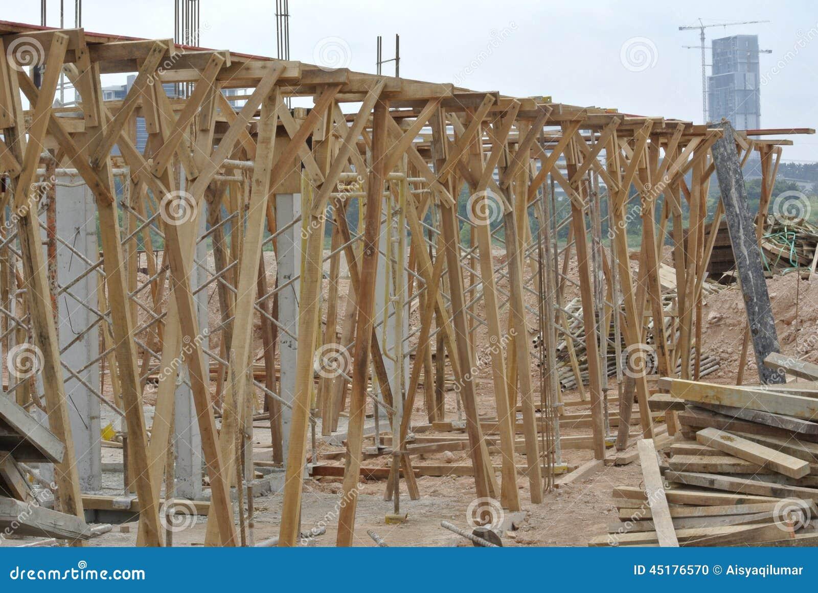 Ayuda de la madera para el encofrado del haz de la madera