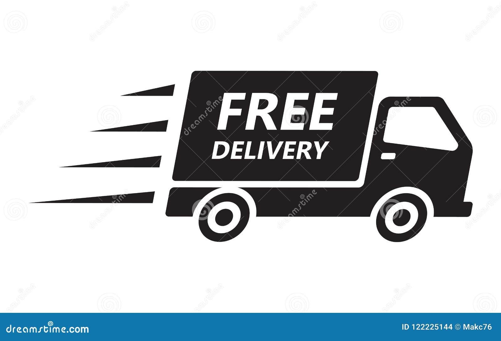Ayuna y el camión de reparto del envío gratis