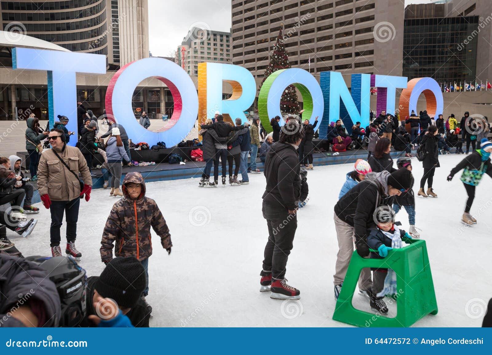 Ayuntamiento Toronto O Nuevo Ayuntamiento Pista De Patinaje Canadá ...