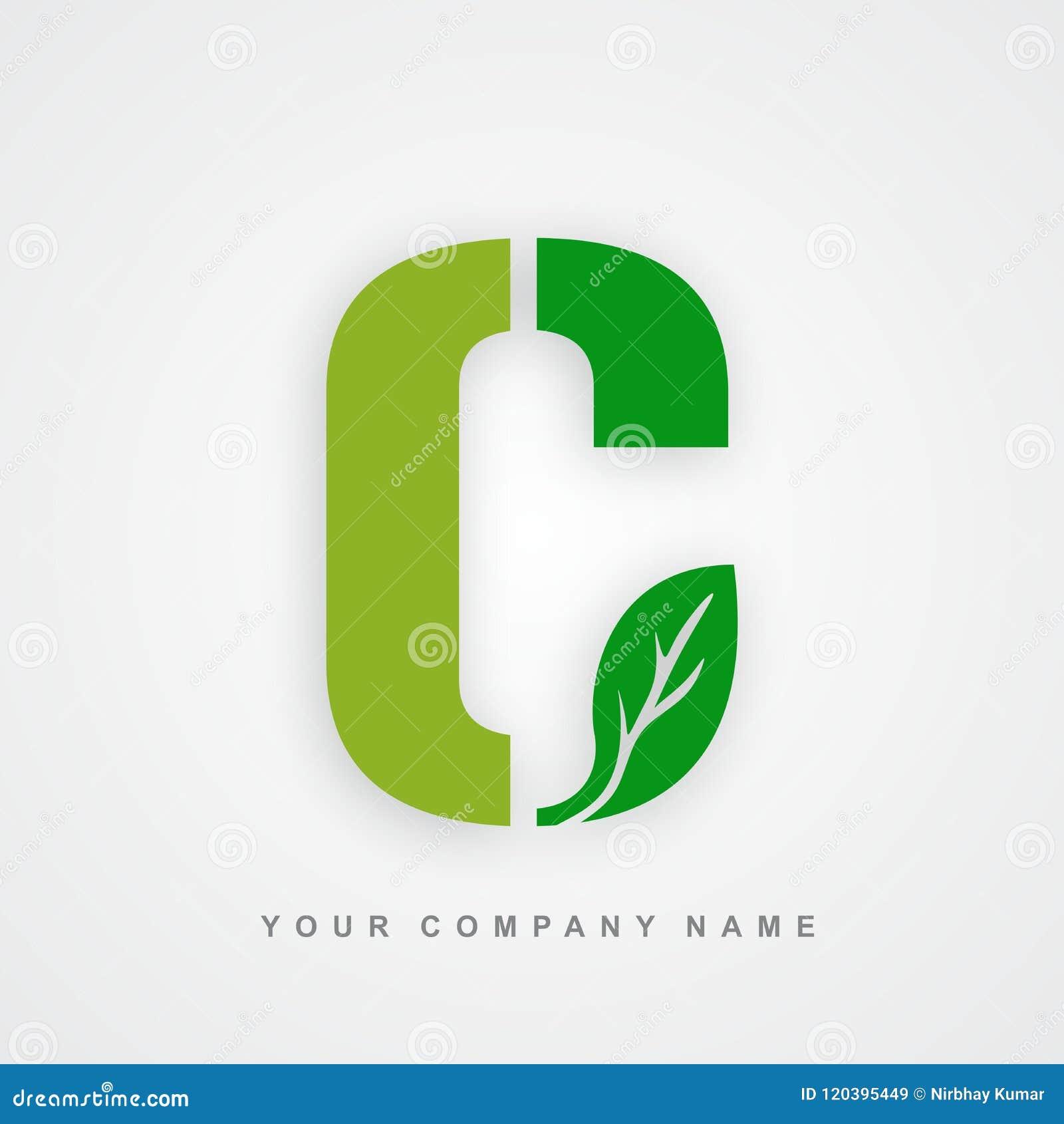 Ayurveda, ambiente ou letra orgânica c do logotipo