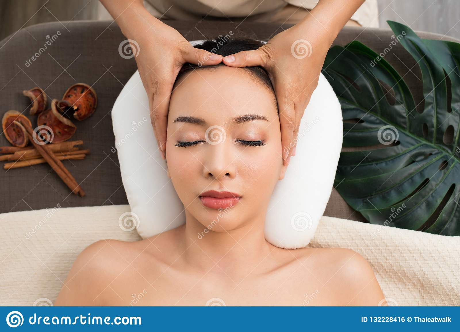 Excited asian massage master excited too