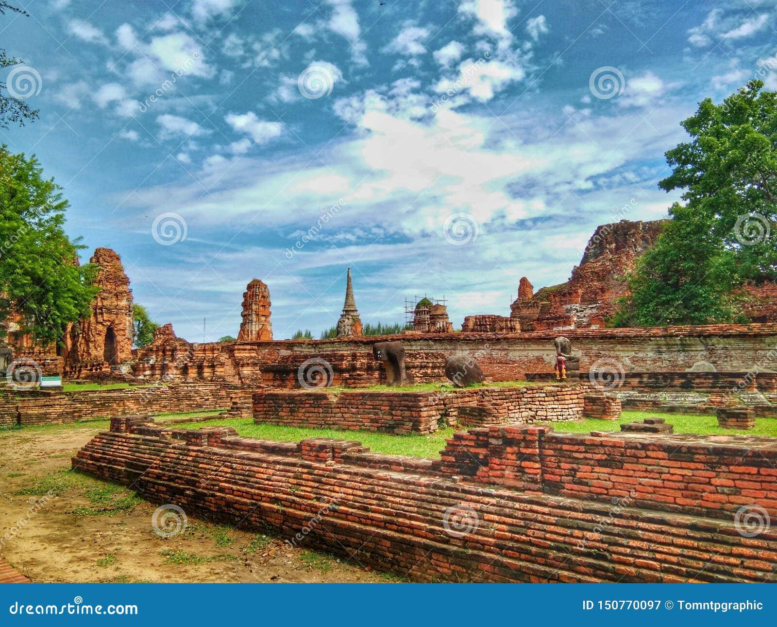 Ayutthaya de l histoire de la Thaïlande de la ville historique de personnes thaïlandaises
