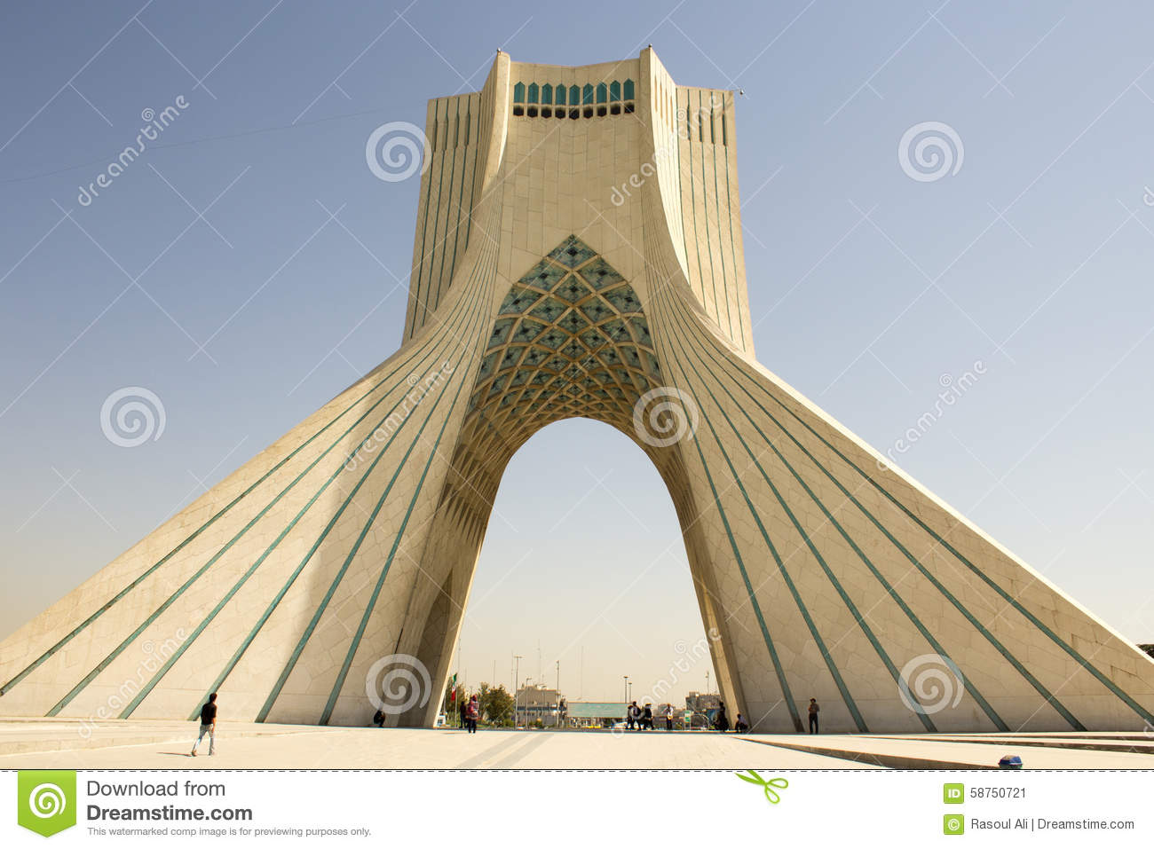 Azadi Tower stock image. Image of monument, protests - 58750721
