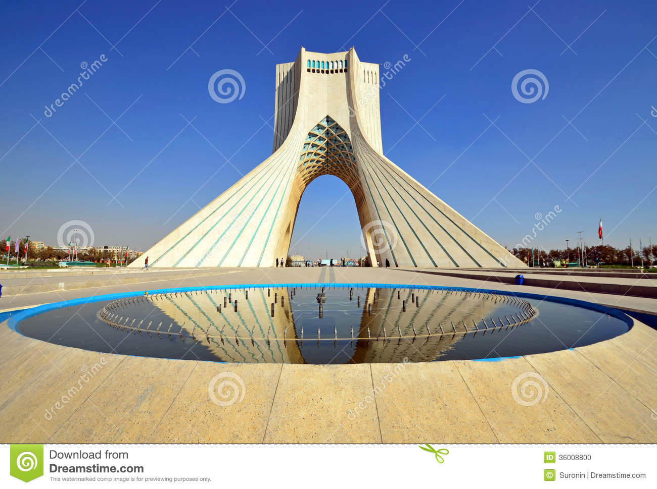 Azadi tower stock photo. Image of azadi, near, asia, square - 36008800
