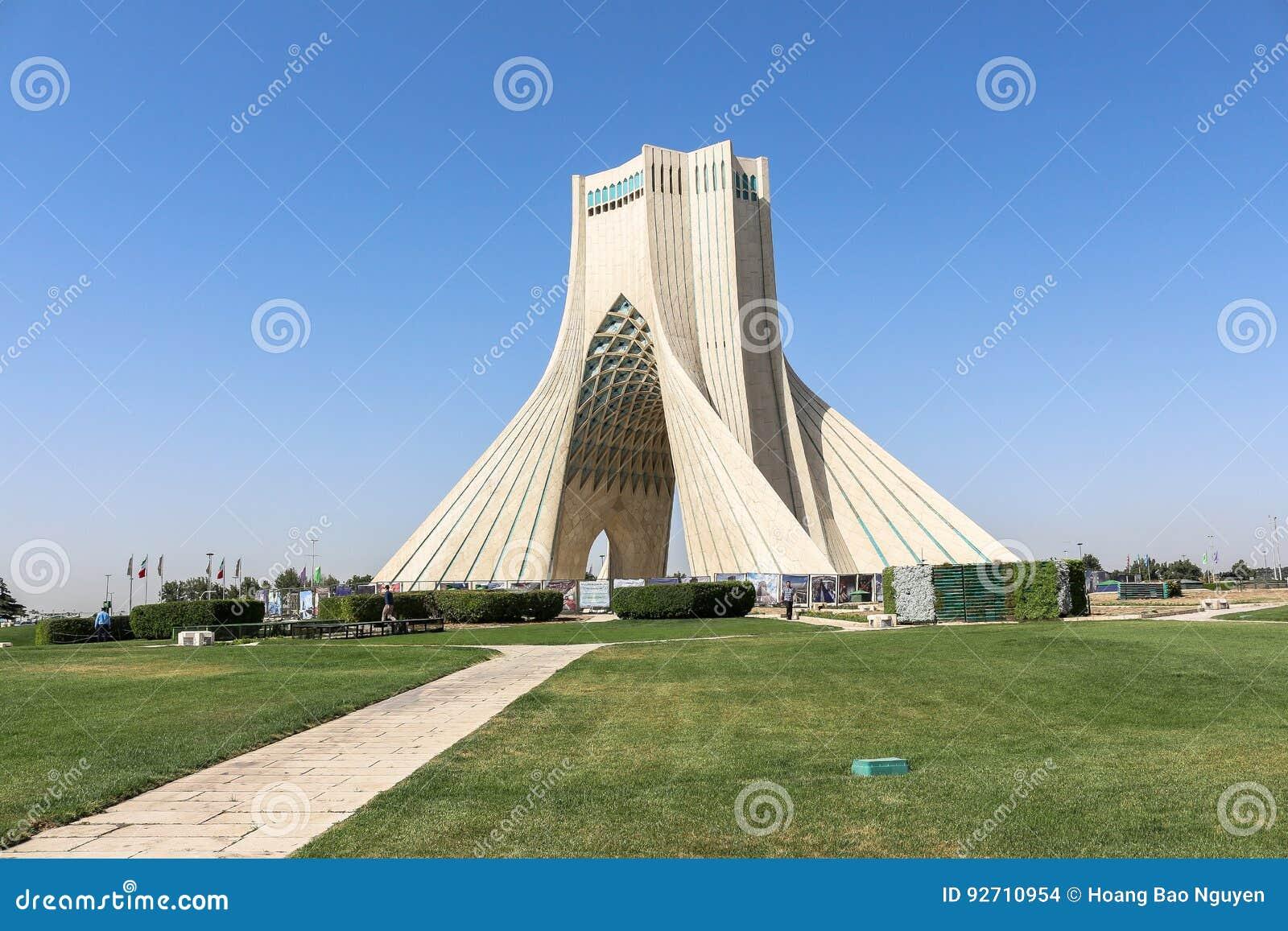 Azadi Tower in Tehran, Iran
