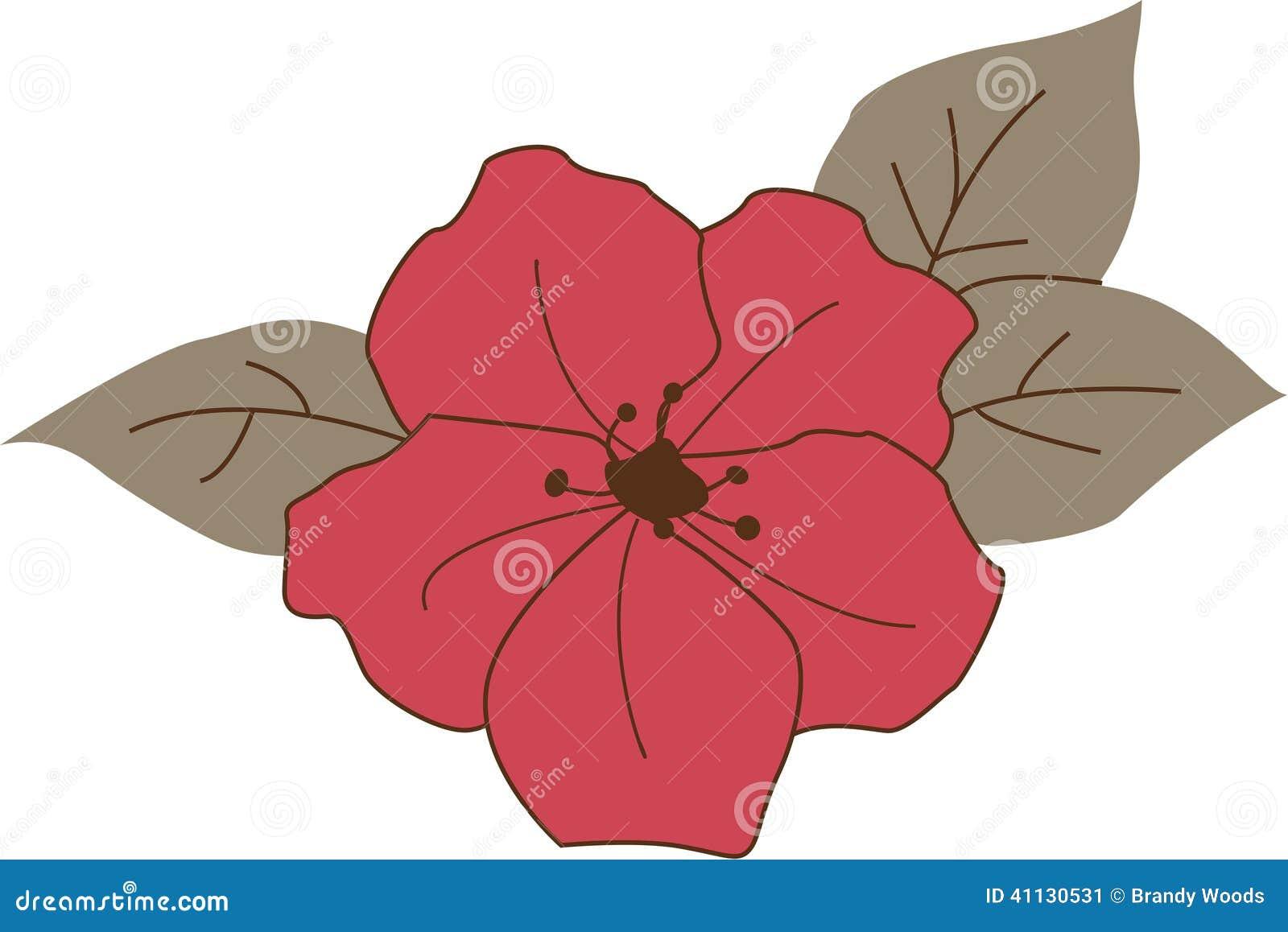 Azalea Flower Stock Illustration - Image: 41130531